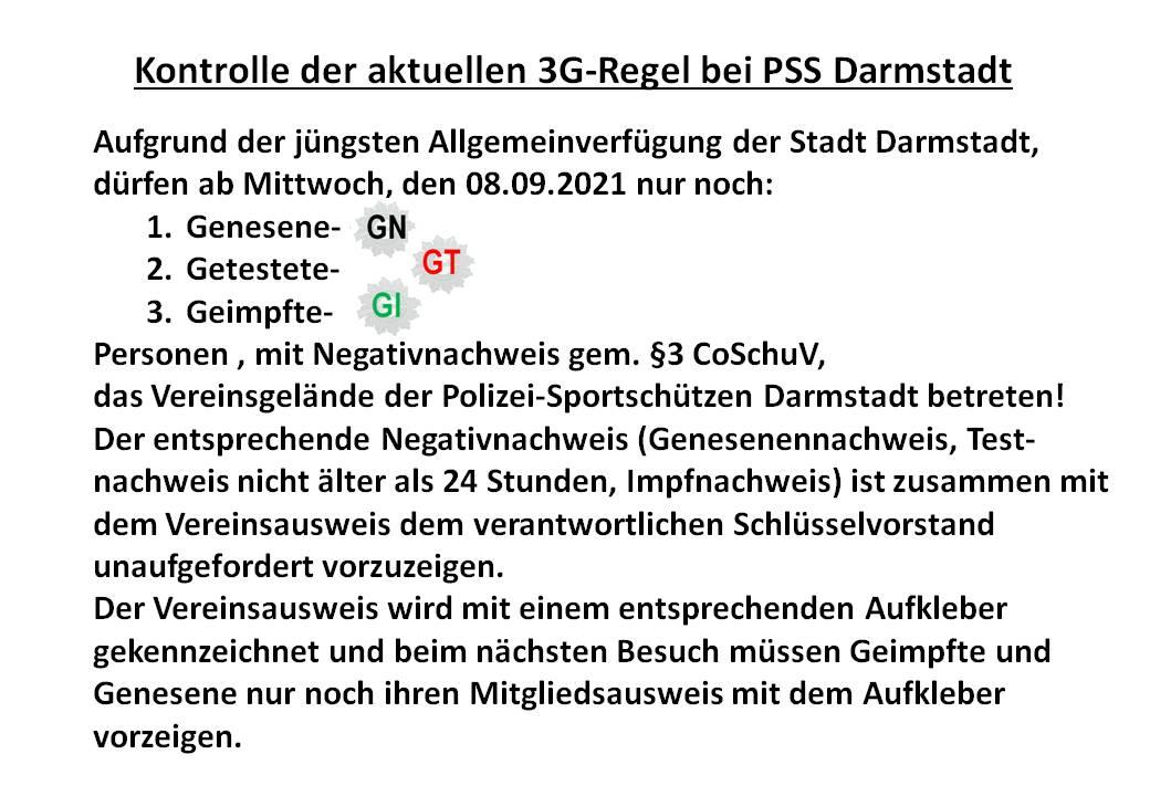PSS 3G Regel